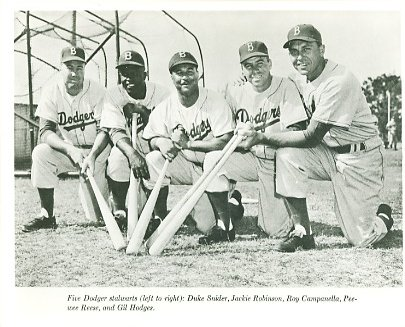 Duke Snider, Jackie Robinson, Roy Campanella, Peewee Reese, Gil Hodges Brooklyn Dodgers LIMITED STOCK 8X10 Photo