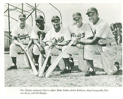 Duke Snider, Jackie Robinson, Roy Campanella, Peewee Reese, Gil Hodges Brooklyn Dodgers LIMITED STOCK 8X10 Photo