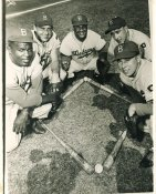 Jackie Robinson, Gil Hodges, Roy Campanella, Billy Cox, Peewee Reese Brooklyn Dodgers LIMITED STOCK 8X10 Photo