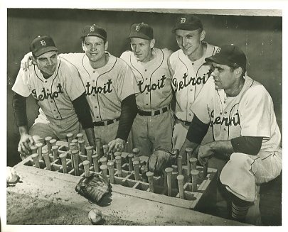 Aaron Robinson, Jerry Priddy, Red Rolfe, Dick Kryhoski, Charlie Keller Detroit Tigers LIMITED STOCK 8X10 Photo