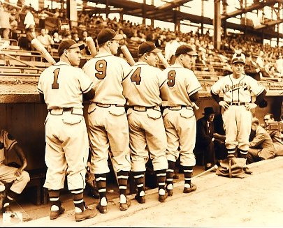 Tommy Holmes, Earl Torgeson, Jeff Heath, Connie Ryan & Billy Southworth Boston Braves LIMITED STOCK 8X10 Photo