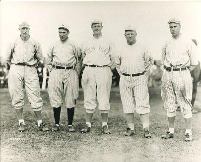 Fred Merkle, Jack Doyle, Christy Mathewson, John McGraw & Fred Snodgrass New York Giants LIMITED STOCK 8X10 Photo