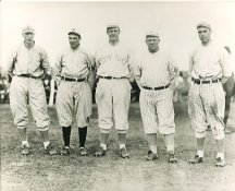 Fred Merkle, Jack Doyle, Christy Mathewson, John McGraw & Fred Snodgrass New York Giants LIMITED STOCK 8X10 Photo