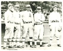 Stuffy McInnis, Dan Murphy, Home Run Baker, Jack Barry & Eddie Collins Philadelphia Athletics LIMITED STOCK 8X10 Photo