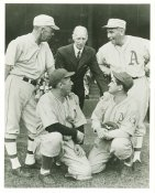 Jack Coombs, Lefty Grove, Connie Mack, Mickey Cochrane & Chief Bender Philadelphia Athletics LIMITED STOCK 8X10 Photo