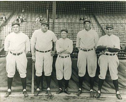 Waite Hoyt, Babe Ruth, Miller Huggins, Bob Meusel & Bob Shawkey New York Yankees LIMITED STOCK 8X10 Photo