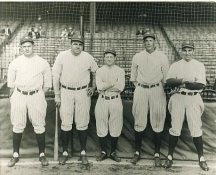 Waite Hoyt, Babe Ruth, Miller Huggins, Bob Meusel & Bob Shawkey New York Yankees LIMITED STOCK 8X10 Photo