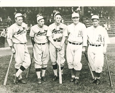 Jim Bottomley, Pepper Martin, Chick Hafey, Al Simmons & Mickey Cochrane 1930 World Series Louis Cardinals & Philadelphia Athletics LIMITED STOCK 8X10 Photo
