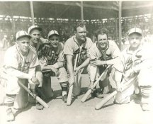 Enos Slaughter, Curt Davis, Mort Cooper, Johnny Mize, Terry Moore & Jimmy Brown St Louis Cardinals LIMITED STOCK 8X10 Photo