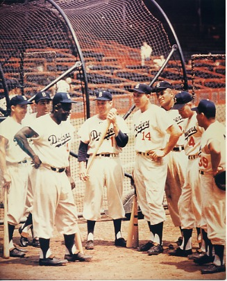 PeeWee Reese, Carl Furillo, Jackie Robinson, Carl Erskine, Gil Hodges, Don Newcombe, Duke Snyder & Roy Campanella Brooklyn Dodgers LIMITED STOCK 8X10 Photo