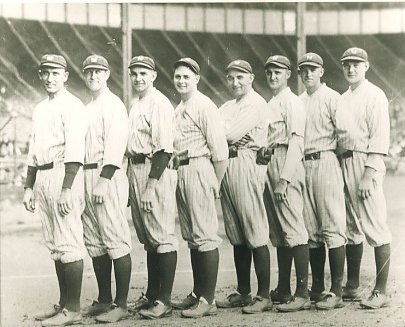 Sam Jones, Joe Bush, Bob Shawkey, Waite Hoyt, Carl Mays, Herb Pennock, Oscar Roettger & George Pipgras 1923 NY Yankees LIMITED STOCK 8X10 Photo