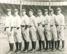 Sam Jones, Joe Bush, Bob Shawkey, Waite Hoyt, Carl Mays, Herb Pennock, Oscar Roettger & George Pipgras 1923 NY Yankees LIMITED STOCK 8X10 Photo