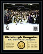 Penguins 2017 Celebration ON ICE Down Stanley Cup Champions 12x15 MATTE BLACK Plaque - Discounts for Quantity Buyers