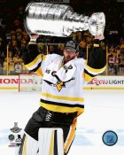 Matt Murray with Cup 2017 Stanley Cup Champs Pittsburgh Penguins SATIN 8x10 Photo