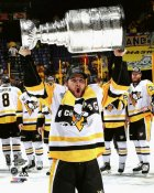 Conor Sheary with Cup 2017 Stanley Cup Champs Pittsburgh Penguins SATIN 8x10 Photo