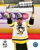 Patric Hornqvist with Cup 2017 Stanley Cup Champs Pittsburgh Penguins SATIN 8x10 Photo