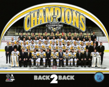 Penguins Team Sit Down with BACK 2 BACK Graphic 2017 Stanley Cup Champs Pittsburgh Penguins SATIN 8x10 Photo