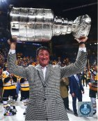Mario Lemieux With Cup 2017 Stanley Cup Champs Pittsburgh Penguins LIMITED STOCK SATIN 8x10 Photo