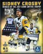 Sidney Crosby Winner of 2017 Conn Smythe Trophy Back2Back Stanley Cup Champs Pittsburgh Penguins LIMITED STOCK SATIN 8x10 Photo