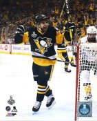 Conor Sheary 2017 Stanley Cup Champs Game 5 Goal Celebration Pittsburgh Penguins LIMITED STOCK SATIN 8x10 Photo