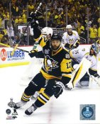 Bryan Rust 2017 Stanley Cup Champs Game 5 Goal Celebration Pittsburgh Penguins LIMITED STOCK SATIN 8x10 Photo