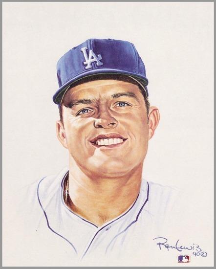 Don Drysdale Los Angeles Dodgers 8X10 Card Stock Litho by Ron Lewis SUPER SALE