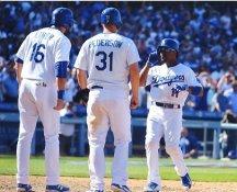 Jimmy Rollins, Pederson & Ethier LA Dodgers LIMITED STOCK Satin 8X10 Photo