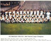 Pittsburgh Pirates Team 1960 National League Champions LIMITED STOCK 8X10 Photo