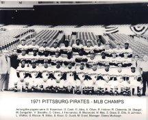 Pittsburgh Pirates Team 1971 MLB Champions LIMITED STOCK 8X10 Photo