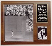 "Willie Mays 1954 World Series ""The Catch"" Collectors Plaque"