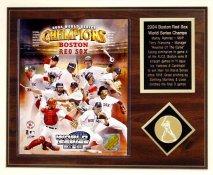 Boston Red Sox 2004 World Series Team Plaque Walnut Style