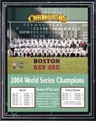 Boston Red Sox 2004 World Series Team Plaque Black Marble