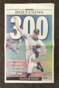 Roger Clemens 300th Hit Newspaper Daily News