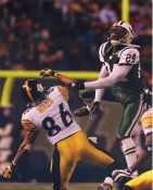 Darrelle Revis New York Jets Hines Ward Pittsburgh Steelers Satin 8X10 Photo