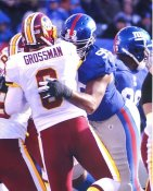 Chris Canty New York Giants & Rex Grossman Washington 8X10 Photo