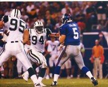 Kerry Collins & John Abraham New York Giants & Jets 8X10 Photo