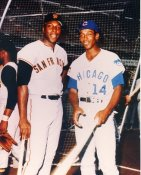 Ernie Banks & Willie McCovey Chicago Cubs & San Francisco Giants 8X10 Photo LIMITED STOCK