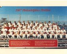 Phillies 1987 Philadelphia Phillies Team LIMITED STOCK 8x10 Photo