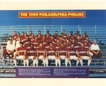 Phillies 1989 Philadelphia Phillies Team LIMITED STOCK 8x10 Photo