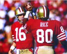 Joe Montana & Jerry Rice San Francisco 49ers 8X10 Photo