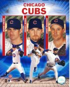 Kerry Wood, Greg Maddux & Mark Prior Chicago Cubs 8X10 Photo