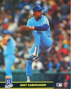 Bret Saberhagen Kansas City Royals Glossy Card Stock 8X10 Photo