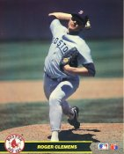 Roger Clemens Boston Red Sox Glossy Card Stock 8X10 Photo