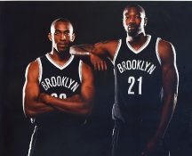 Markel Brown & Cory Jefferson Brooklyn Nets LIMITED STOCK 8X10 Photo