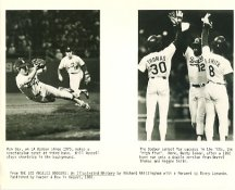 Ron Cey Spectacular Catch at 3rd Base 1973 Bill Russell Shortstop Los Angeles Dodgers (Small Creases, Chip on Edge) SUPER SALE 8X10 Photo