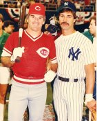Don Mattingly & Pete Rose Yankees / Reds LIMITED STOCK 8X10 Photo