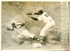 Larry Doby & Mickey Vernon Chicago White Sox - Boston Red Sox / Press Photo Slight Creases 7X9 Photo