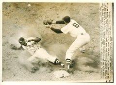 Larry Doby & Mickey Vernon Chicago White Sox - Boston Red Sox / Press Photo Slight Creases 7X9 Photo