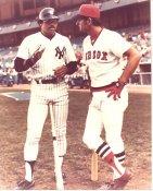 Reggie Jackson & Carl Yastrzemski New York Yankees / Boston Red Sox Slight Creases 8X10 Photo SUPER SALE