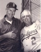 Tommy Lasorda & Ted Williams Dodgers / Red Sox LIMITED STOCK 8X10 Photo
